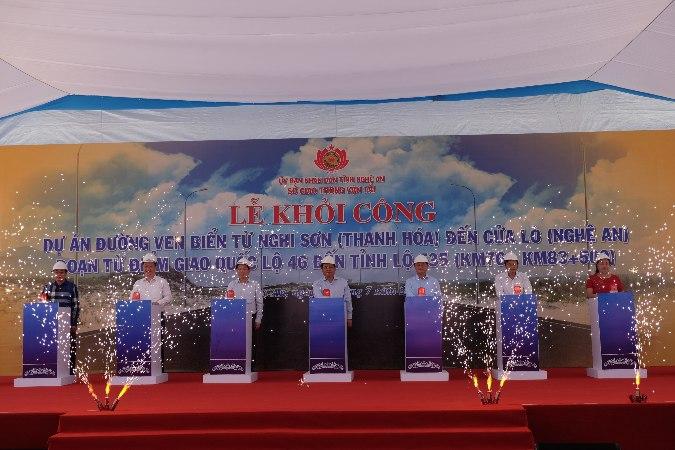 Nghệ An: Khởi công đường ven biển Nghi Sơn - Cửa Lò, mở toang cánh cửa hướng ra biển